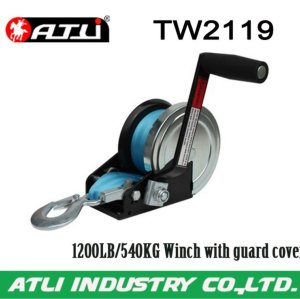 High quality hot-sale 1200LB/540KG Winch with guard cover TW2119,hand winch