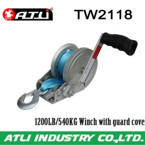 High quality hot-sale 1200LB/540KG Winch with guard cover TW2118,hand winch