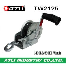 High quality hot-sale 1400LB/630KG Trailer Winch TW2125,hand winch