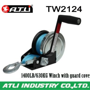 High quality hot-sale 1400LB/630KG Winch with guard cover TW2124,hand winch