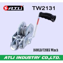 High quality hot-sale 1600LB/720KG Trailer Winch TW2131,hand winch