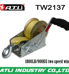 High quality hot-sale 1800LB/900KG two speed winch TW2137,hand winch