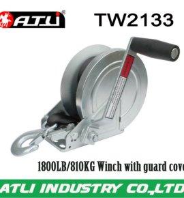 High quality hot-sale 1800LB/810KG trailer winch TW2133,hand winch