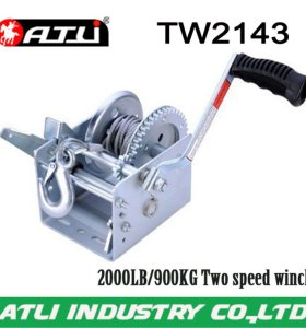 High quality hot-sale 2000LB/900KG Two speed winch TW2143,hand winch