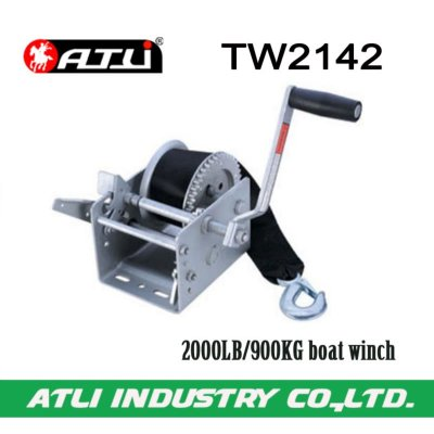 High quality hot-sale 2000LB/900KG boat winch TW2142,hand winch