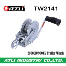 High quality hot-sale 2000LB/900KG Trailer Winch TW2141,hand winch