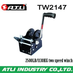 High quality hot-sale 2500LB/1130KG two speed winch TW2147,hand winch small