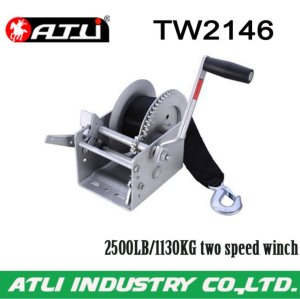 High quality hot-sale 2500LB/1130KG two speed winch TW2146,hand winch small