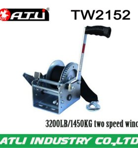 High quality hot-sale 3200LB/1450KG two speed winch TW2152,hand winch small