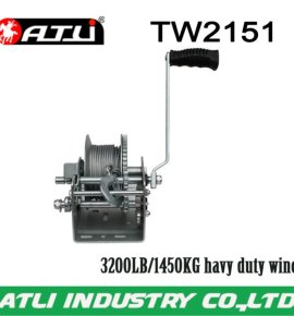 High quality hot-sale 3200LB/1450KG trailer winch TW2151,hand winch small