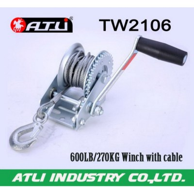 High quality hot-sale 600lb trailer winch TW2106,hand winch small