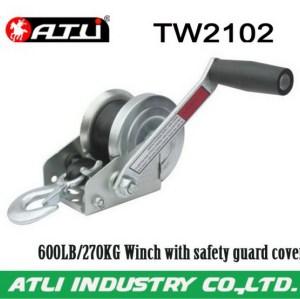 Adjustable powerful manual car winch