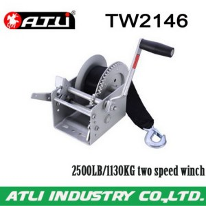 Adjustable high performance hand powered winch