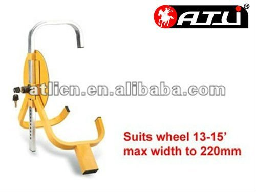 tire lock/mild steel tyre lock for car and motorcycle