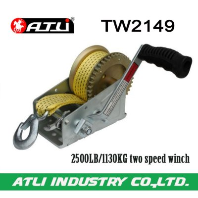 High quality hot-sale 2500LB/1130KG two speed winch TW2149,hand winch for sale