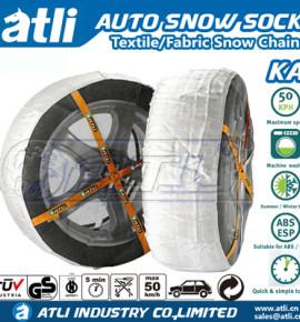 Atlichain KA autosock anti skid fabric snow chains passenger car snow tire cover auto snow sock