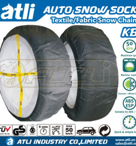 AtliChain KB textile snow chains car snow sock autosock for winter Ice road