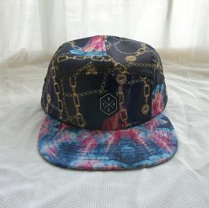 custom  wholesale printed 5 panel hat,five panel cap manufature