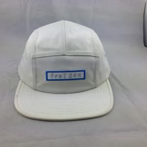 custom cotton 5-panel baseball cap;embroidery flat peak five panel hat;wholesale plain snapback caps
