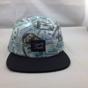 customize digital print 5 panel hat,wholesale label patch  5 panel hat high quality