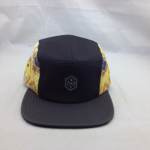 cotton New 5 Panel Hat Cap Strap Back Flat Brim Skate Camp Army Blank Plain Five Panel