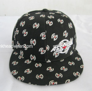 6 PANEL animal print snapback hat cap flat bill wolves snapback black sublimation