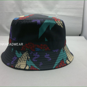 promotional wholesale top quality new design hot sale custom blank tie dyed bucket hat bulk with woven label logo