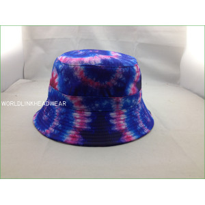 tie dye bucket hats for cheap,custom bucket hat,tie dyed printed bucket hat;beach sunny hats