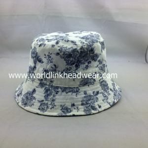 custom Reversible Hat Pattern,flower bucket hat wholesale,cheap reversible cotton bucket hat