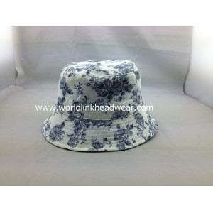 custom Reversible Hat Pattern,flower bucket hat wholesale,cheap reversible cotton bucket hat