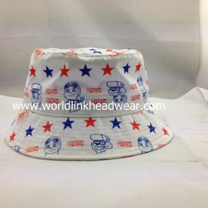 Custom Fashion High Quality  Bucket Hat, 100%cotton bucket hat online;sublimation bucket hat