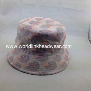 custom two-side bucket hat;wholesale reversible Cotton Bucket Hat;reversible  bucket hat for fishing