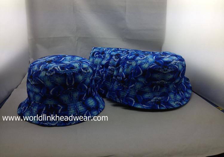 blue bucket hat