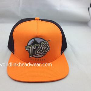Professional OEM/ODM cap Factory / flat brim trucker hat cap/mesh colorful snapback