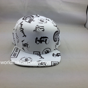 ink printing snapback cap/hats,sponge Mutispandex snap back hats,wholesale custom snapback hat