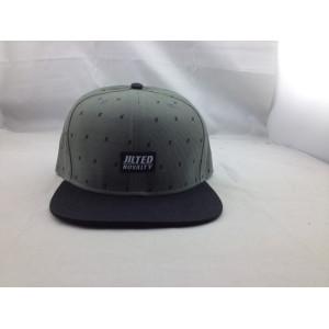 custom label patch snapback cap/hat;6 panel cap with customize logo;wholesale black flat brim  snapback cap