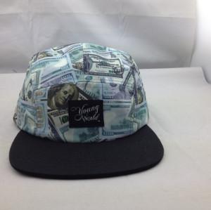 custom five panel hats sewing pattern;blank five panel cap;Cotton Flat Bill 5 Panel Biker Snapback Hats