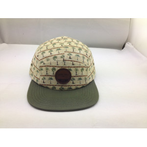 5 Panel hat design,Leather Patch 5 Panel Hat ,Cheap  Adjustable Snapback Camp cap