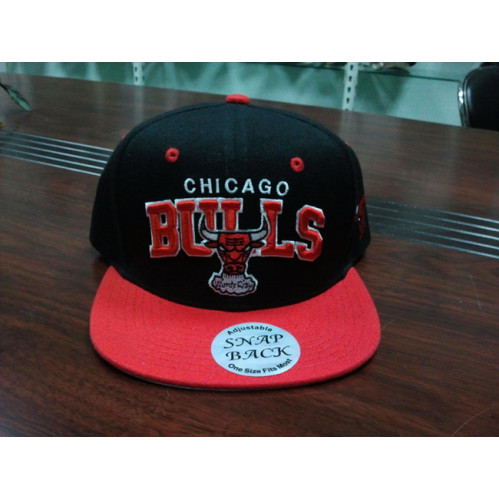 custom chicago BULLS team snapback cap,3D embroidery