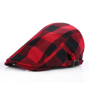 customize Fashion Plaid Ivy Beret Cap/wholesale cheap cotton IVY cap/ivy cap manufacturer