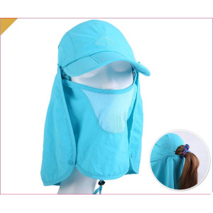 wholesale Multi-function cap cotton UV protection hat;protection sun visor cap