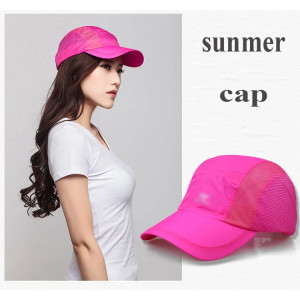 wholesale High  Quality Side Polyester Made Hats / custom Polyester Running Cap
