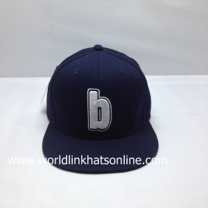 custom FITTED FlexFit Hip Hop Cap,flat brim FITTED FlexFit hat with custom embroidered logo