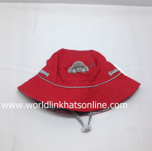 Fashion Print Pattern Custom Bucket Hat With String/embroidery cotton bucket hat