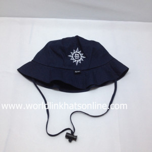 Custom wholesale cheap children/baby sun hat/kid bucket hat with string/cotton embroidery bucket hat