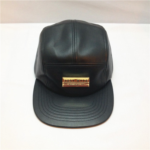 efc9eb55f2484 leather 5 panels hat wholesale,custom five panel hats with metal patch