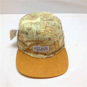 custom 5-Panel Cap;wholesale flat suede  brim  Hat ;customize Suede ffive panel hat