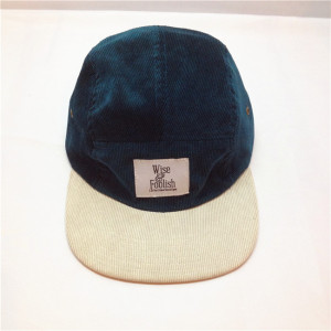 Custom Blank Corduroy 5 Panel Cap Hats Wholesale