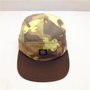 camo 5 panel hat wholesale,custom camo cotton 5-panel cap,camo flat peak hat with woven labal
