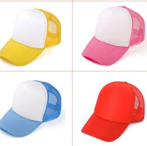 colorf mesh foam baseball cap,blank trucker cap and hat wholesale